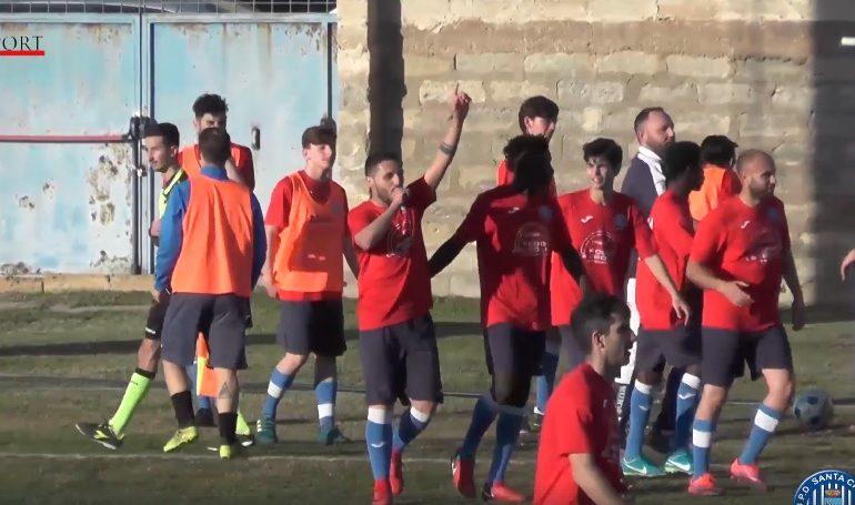 Promozione D, 26sima giornata. S.Croce - Carlentini 2 a 0. Gli highlights.