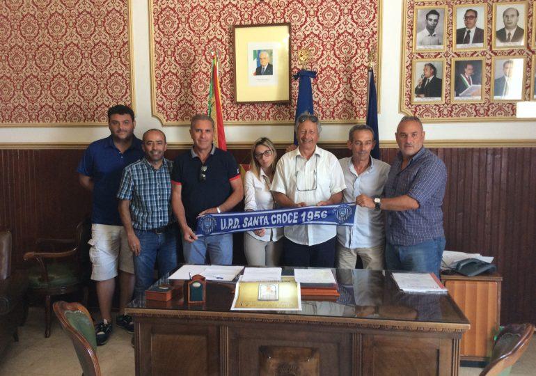 """Il Santa Croce al palazzo comunale. Giavatto e Mandara':""""grande traguardo sportivo, aiuteremo la societa' """""""
