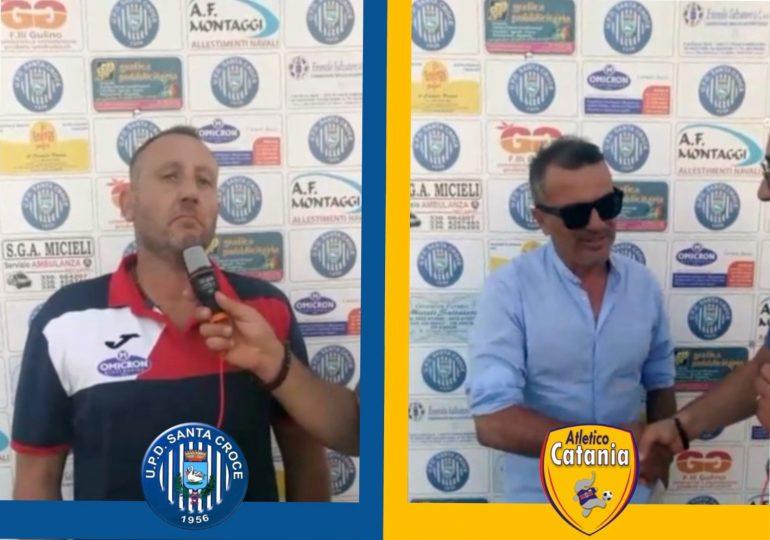 Eccellenza, S.Croce - Atl.Catania 3 a 0. Le parole di Lucenti e Richichi